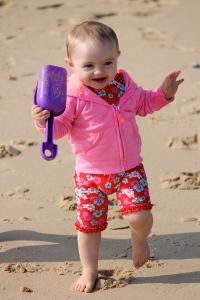 Our beach baby.