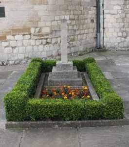 Her grave at Norwich Cathedral.