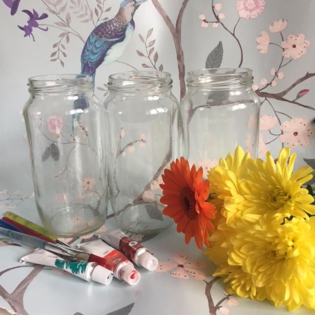 Craft Ideas Empty Jam Jars