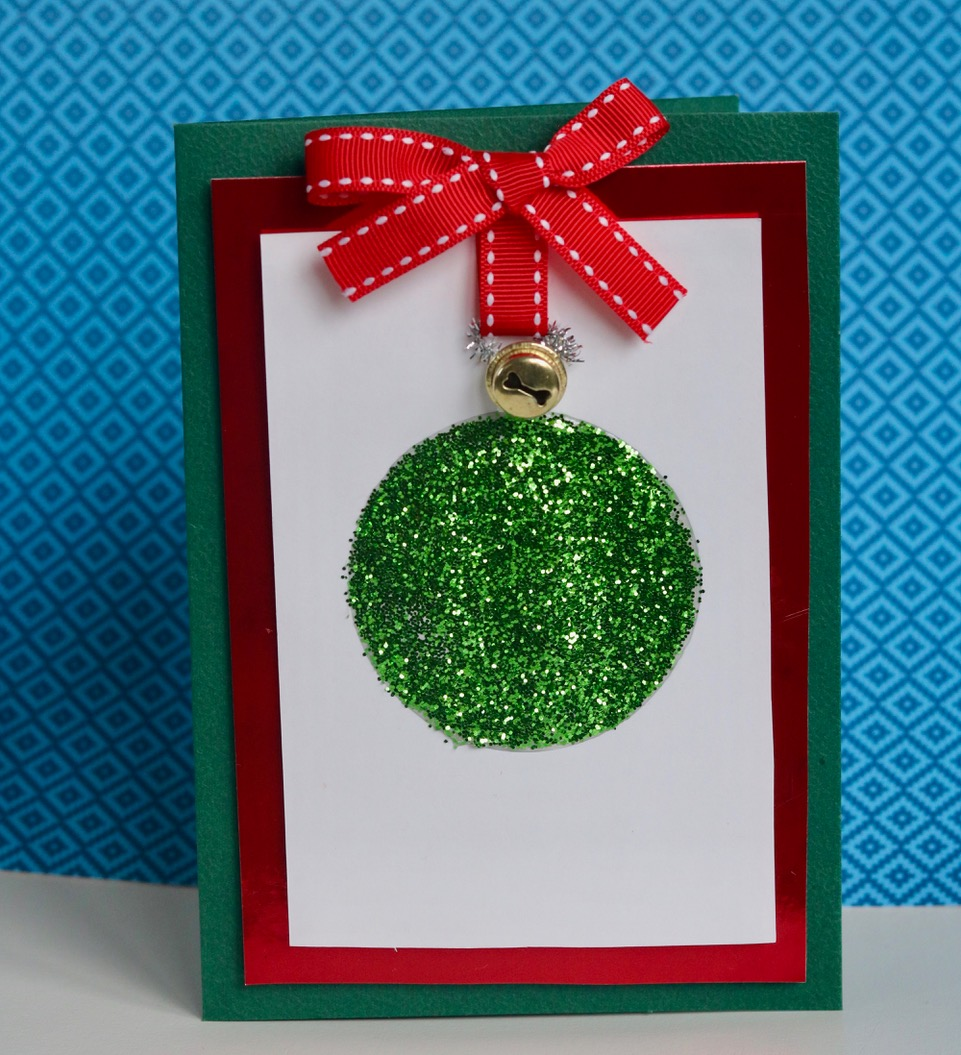 Make Your Own Christmas Card Ideas Part - 43: Having Searched Pinterest For Ideas, I Decided To Adapt This Card (which  Says Itu0027s By Kylie) By Using The Beautiful Green Glitter We Were Sent  Rather Than ...